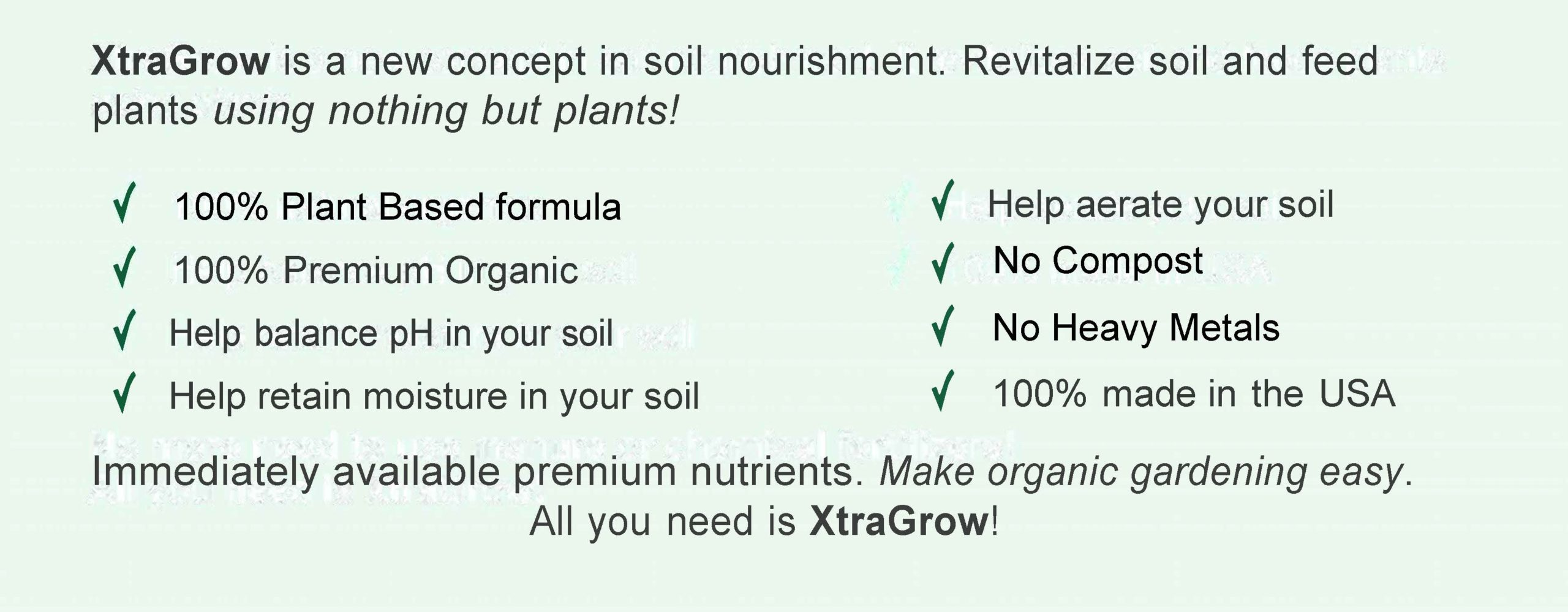 Premium Organic Plant Based Fertilizer Check List