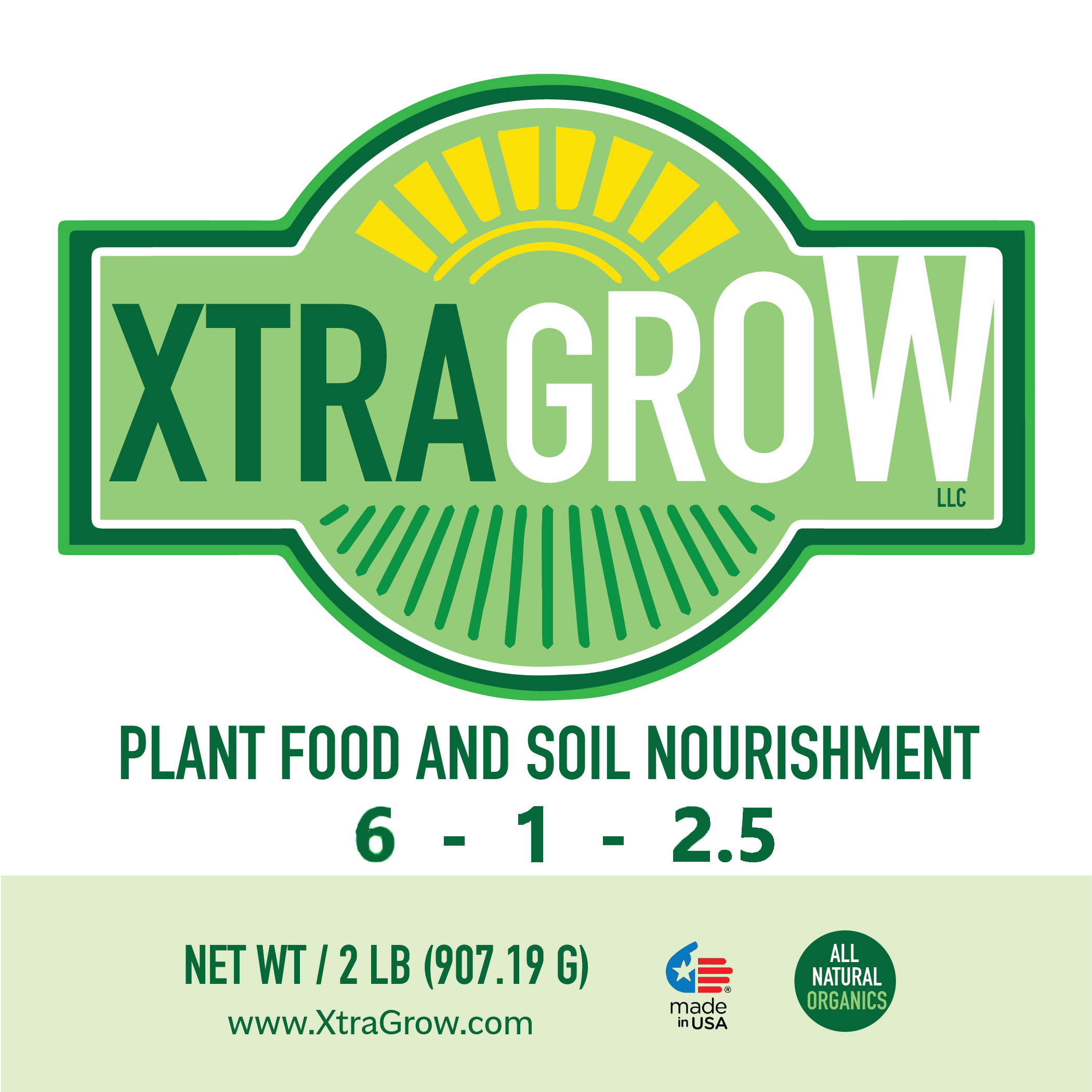 Premium Organic Plant Based Fertilizer Front Label